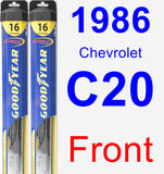 Front Wiper Blade Pack for 1986 Chevrolet C20 - Hybrid