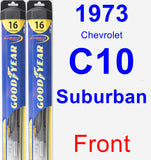 Front Wiper Blade Pack for 1973 Chevrolet C10 Suburban - Hybrid