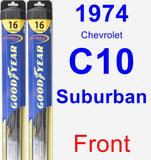 Front Wiper Blade Pack for 1974 Chevrolet C10 Suburban - Hybrid