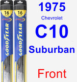 Front Wiper Blade Pack for 1975 Chevrolet C10 Suburban - Hybrid