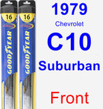 Front Wiper Blade Pack for 1979 Chevrolet C10 Suburban - Hybrid