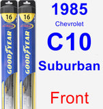Front Wiper Blade Pack for 1985 Chevrolet C10 Suburban - Hybrid