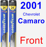 Front Wiper Blade Pack for 2001 Chevrolet Camaro - Hybrid