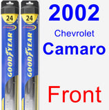 Front Wiper Blade Pack for 2002 Chevrolet Camaro - Hybrid