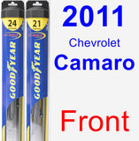 Front Wiper Blade Pack for 2011 Chevrolet Camaro - Hybrid
