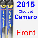 Front Wiper Blade Pack for 2015 Chevrolet Camaro - Hybrid