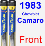 Front Wiper Blade Pack for 1983 Chevrolet Camaro - Hybrid