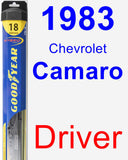 Driver Wiper Blade for 1983 Chevrolet Camaro - Hybrid