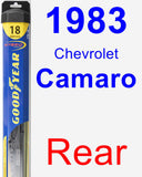 Rear Wiper Blade for 1983 Chevrolet Camaro - Hybrid