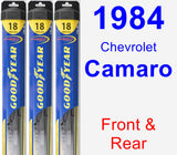 Front & Rear Wiper Blade Pack for 1984 Chevrolet Camaro - Hybrid