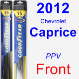 Front Wiper Blade Pack for 2012 Chevrolet Caprice - Hybrid