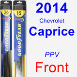 Front Wiper Blade Pack for 2014 Chevrolet Caprice - Hybrid