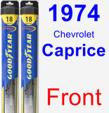 Front Wiper Blade Pack for 1974 Chevrolet Caprice - Hybrid