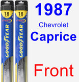 Front Wiper Blade Pack for 1987 Chevrolet Caprice - Hybrid