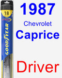 Driver Wiper Blade for 1987 Chevrolet Caprice - Hybrid
