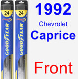 Front Wiper Blade Pack for 1992 Chevrolet Caprice - Hybrid