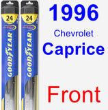 Front Wiper Blade Pack for 1996 Chevrolet Caprice - Hybrid