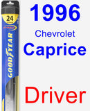 Driver Wiper Blade for 1996 Chevrolet Caprice - Hybrid
