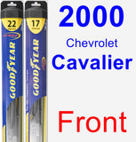 Front Wiper Blade Pack for 2000 Chevrolet Cavalier - Hybrid