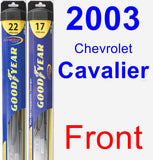 Front Wiper Blade Pack for 2003 Chevrolet Cavalier - Hybrid