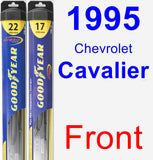 Front Wiper Blade Pack for 1995 Chevrolet Cavalier - Hybrid