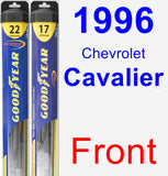 Front Wiper Blade Pack for 1996 Chevrolet Cavalier - Hybrid