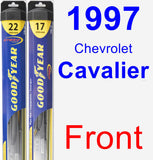 Front Wiper Blade Pack for 1997 Chevrolet Cavalier - Hybrid