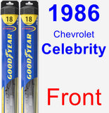 Front Wiper Blade Pack for 1986 Chevrolet Celebrity - Hybrid