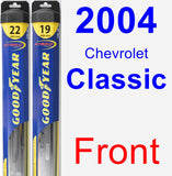 Front Wiper Blade Pack for 2004 Chevrolet Classic - Hybrid
