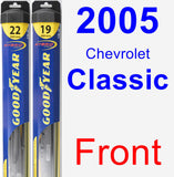 Front Wiper Blade Pack for 2005 Chevrolet Classic - Hybrid