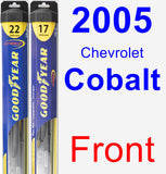 Front Wiper Blade Pack for 2005 Chevrolet Cobalt - Hybrid