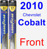 Front Wiper Blade Pack for 2010 Chevrolet Cobalt - Hybrid