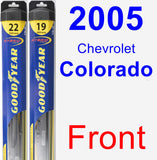 Front Wiper Blade Pack for 2005 Chevrolet Colorado - Hybrid