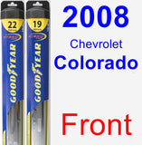 Front Wiper Blade Pack for 2008 Chevrolet Colorado - Hybrid