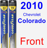 Front Wiper Blade Pack for 2010 Chevrolet Colorado - Hybrid