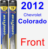 Front Wiper Blade Pack for 2012 Chevrolet Colorado - Hybrid