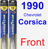 Front Wiper Blade Pack for 1990 Chevrolet Corsica - Hybrid
