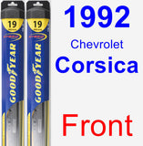 Front Wiper Blade Pack for 1992 Chevrolet Corsica - Hybrid