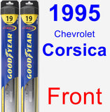 Front Wiper Blade Pack for 1995 Chevrolet Corsica - Hybrid