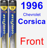 Front Wiper Blade Pack for 1996 Chevrolet Corsica - Hybrid