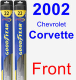 Front Wiper Blade Pack for 2002 Chevrolet Corvette - Hybrid