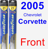 Front Wiper Blade Pack for 2005 Chevrolet Corvette - Hybrid