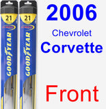 Front Wiper Blade Pack for 2006 Chevrolet Corvette - Hybrid