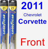 Front Wiper Blade Pack for 2011 Chevrolet Corvette - Hybrid