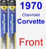 Front Wiper Blade Pack for 1970 Chevrolet Corvette - Hybrid