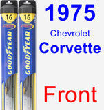 Front Wiper Blade Pack for 1975 Chevrolet Corvette - Hybrid