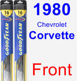 Front Wiper Blade Pack for 1980 Chevrolet Corvette - Hybrid