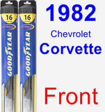 Front Wiper Blade Pack for 1982 Chevrolet Corvette - Hybrid