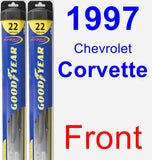 Front Wiper Blade Pack for 1997 Chevrolet Corvette - Hybrid