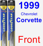 Front Wiper Blade Pack for 1999 Chevrolet Corvette - Hybrid